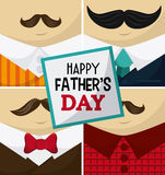 Happy Fathers day design Stock Photos