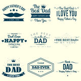 Happy Fathers Day Design Royalty Free Stock Photos