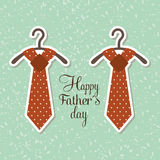 Happy fathers day design Royalty Free Stock Images