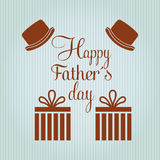 Happy fathers day design Stock Image