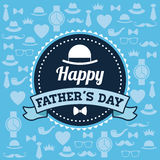 Happy Fathers day design. vintage icon. Colorful illustration Royalty Free Stock Image