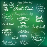 Happy Fathers Day doodle set Royalty Free Stock Image