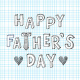 Happy father's day doodle sketch Royalty Free Stock Photography