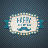 Happy Fathers Day festive Background Template Royalty Free Stock Images