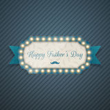 Happy Fathers Day festive blue Background. Vector Illustration Royalty Free Stock Photography