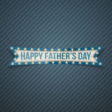 Happy Fathers Day festive Ribbon. Vector Illustration Royalty Free Stock Photos