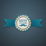 Happy Fathers Day festive Signage Template. Vector Illustration Royalty Free Stock Image