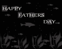 Happy Fathers Day Fish Greeting Notecard Royalty Free Stock Photography