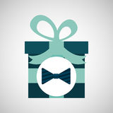 Happy fathers day with gift bowtie Stock Photography