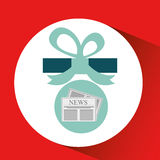 Happy fathers day with gift newspaper. Vector illustration eps 10 Stock Photography
