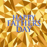 Happy fathers day. gold abstract background Royalty Free Stock Photo