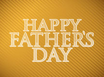 Happy fathers day gold background Stock Photography