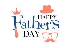 Free Happy Fathers Day Greeting Stock Photos - 118915763