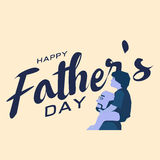 Happy fathers day greeting card, Blue tone design Stock Photography