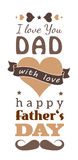 Happy Fathers Day greeting card Royalty Free Stock Image