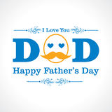 Happy Fathers Day greeting card design Stock Photo