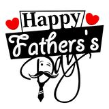 Happy Fathers day greeting card. Happy Father`s day greeting card royalty free illustration