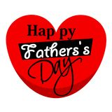 Happy Fathers day greeting card. Happy Father`s day greeting card Stock Image