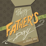 Happy Fathers day greeting card Royalty Free Stock Photo