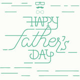 Happy fathers day greeting card Royalty Free Stock Images