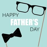 happy fathers day greeting card photo set stock illustration