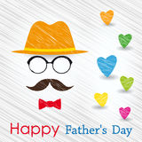 Happy Fathers Day greeting card. Stock Photo
