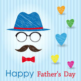 Happy Fathers Day greeting card. Royalty Free Stock Image