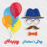 Happy Fathers Day greeting card. Stock Image