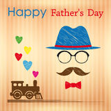 Happy Fathers Day greeting card. Royalty Free Stock Photo