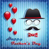 Happy Fathers Day greeting card. Stock Photography