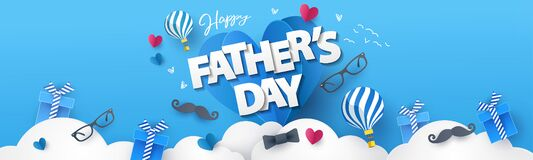 Free Happy Fathers Day Greeting Design For Greeting Card, Banner, Social Media, Promotion And Sale Royalty Free Stock Image - 183918356
