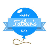 Happy Fathers day greeting emblem Royalty Free Stock Image
