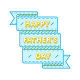 Happy Fathers day greeting emblem Royalty Free Stock Photos