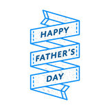 Happy Fathers day greeting emblem Stock Photos