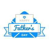 Happy Fathers day greeting emblem Stock Photo