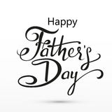 Happy Fathers Day greeting. Lettering card. Vector background with doodle neckties, bow tie and glasses. Stock Image