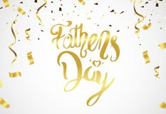 Happy Fathers Day greeting. Vector background. Happy Fathers Day greeting. Vector illustration Stock Photo