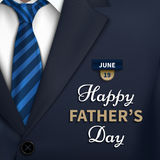 Happy Fathers Day greeting. Vector background with necktie,costume Good vector illustration Royalty Free Illustration