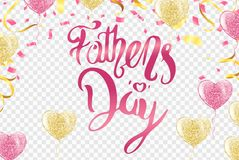 Happy Fathers Day greeting. Vector background. Happy Fathers Day greeting. Vector illustration Stock Photography