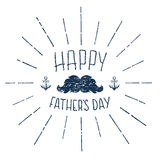 Happy Fathers Day. Grunge calligraphic handwritten Stock Images
