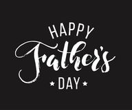 Happy Fathers Day. Hand drawn lettering for greeting card Royalty Free Stock Photography