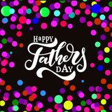 Happy Fathers Day Hand Drawn Lettering. stock illustration
