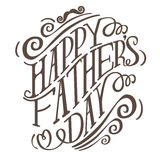 Happy Fathers Day hand drawn typography EPS 10 vector. Royalty free stock illustration for greeting card, ad, promotion, poster, flier, blog, article, social Royalty Free Stock Images