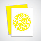 Happy Fathers Day handlettering element Stock Photo