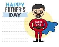Happy fathers day. Father disguised as a hero. space for text Stock Photos