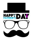Happy Fathers day hat, glasses and mustache Stock Photography
