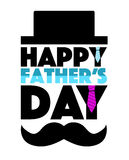 Happy Fathers day hat and mustache Stock Image
