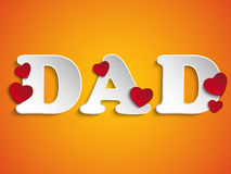 Happy Fathers Day with Heart Background Royalty Free Stock Image