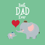 Happy fathers day icon design Royalty Free Stock Photos