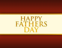 Happy fathers day illustration card Stock Image